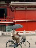 Bike Rider, Senso-Ji Temple, Asakusa, Tokyo, Japan Photographic Print by Greg Elms