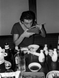 The Boomtown Rats in Japan, Bob Geldof Eating His Food with Chop Sticks Photographic Print