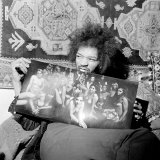 Jimi Hendrix in London at His Mayfair Flat Once the Residence of George Frederick Handel, 1969 Photographic Print