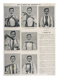 How to Tie the Ascot Necktie Photographic Print
