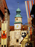 Markus Tower and Roder Arch, Rothenburg Ob Der Tauber, Germany Photographic Print by Johnson Dennis