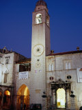Gothic Clock Tower, Dubrovnik, Croatia Photographic Print by Richard Nebesky