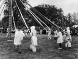 The Children of Ickwell Bedfordshire Continue the English Tradition of Maypole Dancing Photographic Print by Fred Musto