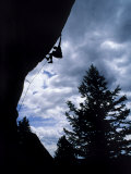A Rock Climber Ascends a Steep Route at the Wild Iris, Wyoming Photographic Print by Bill Hatcher