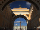 Alexander Column Framed by the General Staff Arch Photographic Print by Richard Nowitz