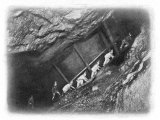 Miners Climbing from the Sixty to the Fifty-Fathom Level in King Edward's Mine Photographic Print by J.c. Barrow