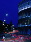 Roman Colosseum at Night, Rome, Italy Photographic Print by Johnson Dennis