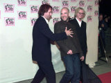 REM Pop Group Arrive at MTV Awards in Milan Lead by Lead Singer Michael Stipe, November 1998 Photographic Print