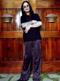Singer Ozzy Osbourne at His Home in Los Angeles, USA, December 2003 Fotografisk tryk
