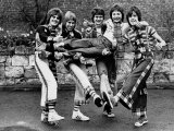 The Bay City Rollers: Derek Longmuir, Alan Longmuir, Les Mckeown,Ian Mitchell, Stewart Wood, 1975 Photographic Print
