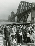 Tourists Come Ashore from Cruise Ship Caronia, South Queensferry, April 1957 Photographic Print