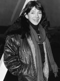 Kate Bush Arriving at London Airport Photographic Print