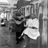 Brownie McGhee American Blues Singer and Rosetta Tharpe, 1964 Fotografie-Druck