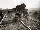 WW2: Women Employed by LNER (London North Eastern Railway) to Recover Coal Dropped by Trains, 1943 Photographic Print