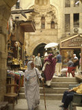 Shopping at the Khan El-Khalili Market Photographic Print by Richard Nowitz