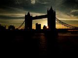 Tower Bridge and River Thames London at Dusk, 1996 Photographic Print