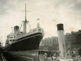 Ceramic Ship Pictured in Govan Dry Dock, April 1952 Photographic Print