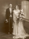 The Happy Pair: an Unidentified Couple from Stafford England Photographic Print by Guy Stafford