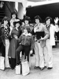 The Osmonds Leaving Britain after Their Week Long Tour at Heathrow Airport Photographic Print