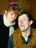 Kirsty Maccoll, with Lead Singer from the Pogues Shane Macgowan, December 1987 Fotografická reprodukce