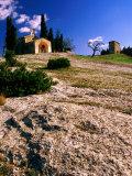 Chapelle St. Sixte Roman Chapel Near Eygalieres, Eygalieres, France Photographic Print by Jean-Bernard Carillet