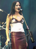 Andrea Corr Singer of the Irish Pop Group the Corrs, in Concert at Finsbury Park, London Fotografie-Druck