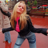 Kerry Katona of Girl Group Atomic Kitten in George Square in Glasgow, June 2000 Photographic Print