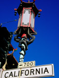 Street Lamp in Chinatown, San Francisco, United States of America Photographic Print by Richard Cummins