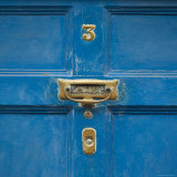 Ireland, Kinsale, Doorknocker on Blue Door Photographic Print by Keith Levit