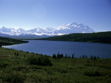 Mt. Mckinley, the Tallest Mountain in North America, Wonder Lake, Denali National Park, Alaska Lámina fotográfica por Gold, Stacy