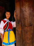Young Girl in Traditional Naxi Costume, Lijiang, China Photographic Print by Bruce Yuan-yue Bi