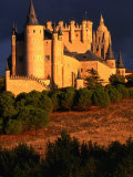 Exterior of Alcazar on Stormy Day, Segovia, Spain Photographic Print by John Banagan