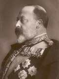 Edward VII British Royalty Head and Shoulders Profile of King Photographic Print