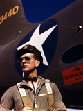 F.W. Hunter, World War II Army Test Pilot, circa 1942 Photo af Alfred T. Palmer