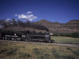 The Durango and Silverton Steam Engine Cruises Along on a Summer Day, Durango, Colorado Photographic Print by Taylor S. Kennedy