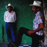 Men Standing in Street, Tequila, Mexico Photographic Print by Christian Aslund