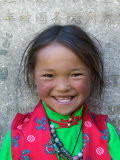 Young Tibetan Girl, Sakya Monastery, Tibet, China Photographic Print by Keren Su