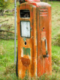 Old Petrol Pump, Taoroa Junction, Rangitikei, North Island, New Zealand Photographic Print by David Wall