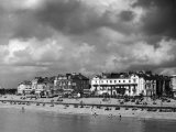 Storm Clouds Over the Promenade and the Beach from the Pier at Southsea Hampshire England Photographic Print