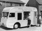 Mobile Cooked Meat Shop of W J Poxon and Sons Kidderminster Specialising in Pork Pies Photographic Print