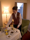 Room Service Breakfast at a Hotel Photographic Print by Taylor S. Kennedy