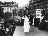 Christabel Pankhurst at Trafalgar Square Photographic Print