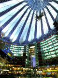 Interior of the Sony Center, Potsdamer Platz, Berlin, Germany Photographic Print by Walter Bibikow