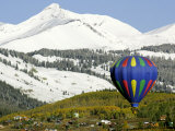 One of the Twelve Hot Air Balloons Takes Flight at Mount Crested Butte, Colorado Photographic Print