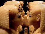 Alabaster Canopic Jars of Tutankhamun, King Tut, Egyptian Museum, New Kingdom, Cairo, Egypt Fotografisk tryk af Kenneth Garrett