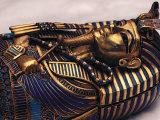 Gold Coffinette, Tomb King Tutankhamun, Valley of the Kings, Egypt Fotografisk tryk af Kenneth Garrett