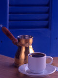 Greek Coffee and Copper Pot, Crete, Greece Photographic Print by Steve Outram