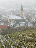 Walter Bibikow - View of Alsatian Wine Village, Riquewihr, Haut Rhin, Alsace, France - Fotografik Baskı