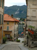 Cobblestone Street Down to Waterfront, Lake Orta, Orta, Italy Photographic Print by Lisa S. Engelbrecht