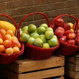 Baskets of Fruit for Sale, Tuscany Photographic Print by Keith Levit